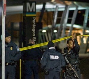 Scene at Pentagon shooting