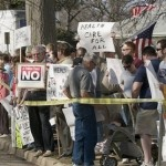 Health care demonstrators in St. Charles, MO