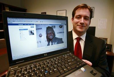 Assistant U.S. Attorney Michael Scoville shows off Facebook crime fighting technique (AP)