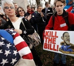 Health care protest Tuesday in Washington (AFP)