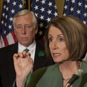 Speaker of the House Nancy Pelosi and Democratic leader Steny Hoyer (AP)