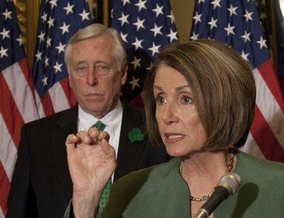 Speaker of the House Nancy Pelosi and Democratic leader Steny Hoyer (AP)