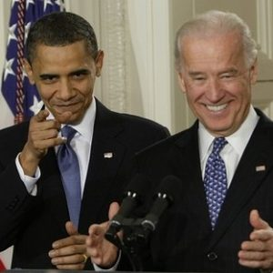 President Obama and Vice President Biden at signing ceremony (AP)