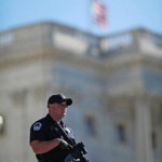 Capitol Hill cop on duty in Washington Wednesday (AFP)
