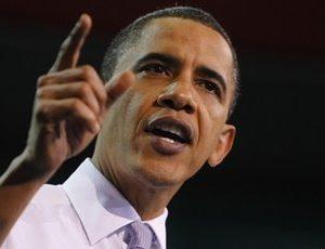 President Obama speaks in Iowa City Thursday (AP)