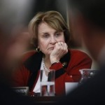 Rep. Louise Slaughter: A brick through her office window (AP)