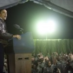 President Obama speaks to troops in Afghanistan (AFP)