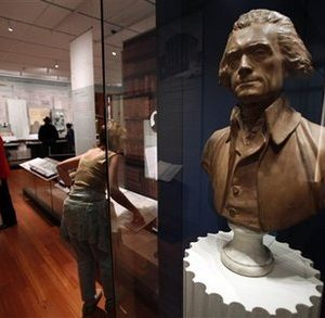 A bust of Thomas Jefferson at Monticello in Charlottesville, VA (AP)