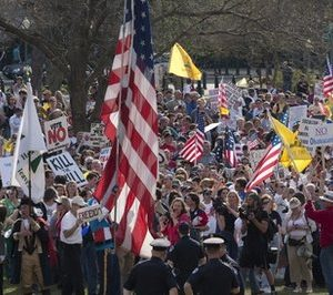 The Tea Party health care protest in Washington (AP)