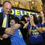 Election winner Ted Deutch celebrates with family (AP)