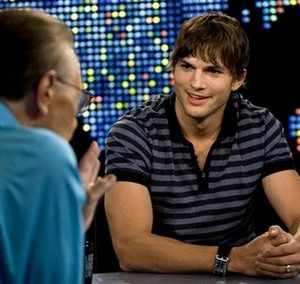 Larry King interviews Ashton Kutcher. Ashton who?