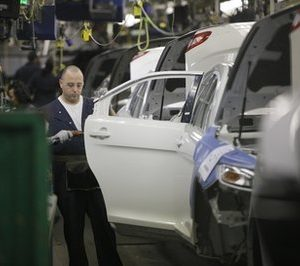 Ford assembly line in Chicago (AP)