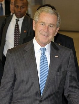 George W. Bush: On second thought...(AFP)
