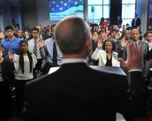 New citizens sworn in (AFP)