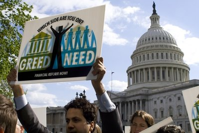 Financial reform demonstration on Capitol Hill (AP)