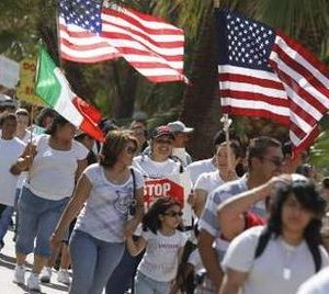 Immigration law protest in Arizona (Reuters)
