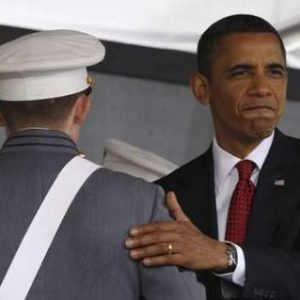 Obama greets cadets at West Point (AP)