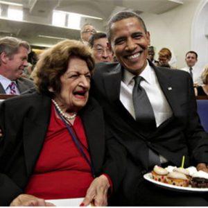 Helen Thomas with President Obama