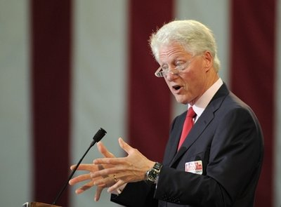 Former President Bill Clinton: Back yet again (AP)