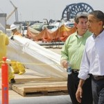 President Obama at another Gulf Coast photo op (AP)