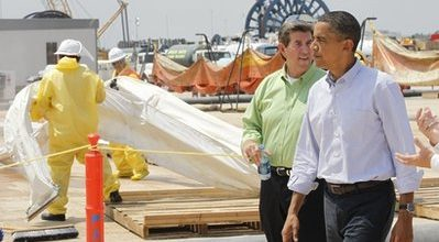 Gulf Coasters aren't buying Obama's side show