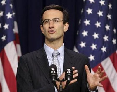 OMB Director Orszag discusses President Obama's budget during a briefing in Washington