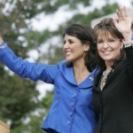 South Carolina winner Nikki Haley with Sarah Palin (AP)
