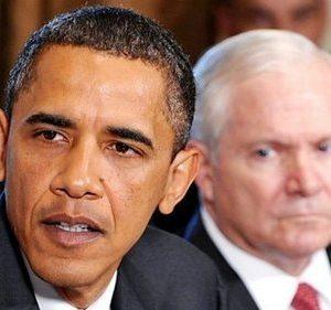 President Barack Obama and Defense Secretary Gates (AFP)