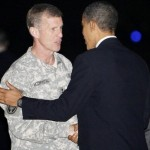 President Obama with problem-child Gen. Stanley McChrystal (AP)