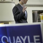 Ben Quayle on the campaign trail (AP)
