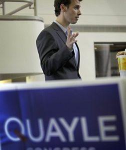 Ben Quayle on the campaign trail (AP)