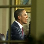 President Obama speaks from the Oval Office (AFP)