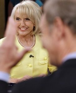 Arizona Gov. Jan Brewer: Hello, is anybody home? (AP)