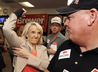 Jan Brewer changes tune on beheadings