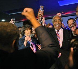 Congressman Charles Rangel celebrates (AP)