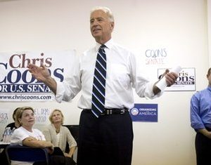 Vice President Joe Biden campaigns for Democratic Senate candidate Chris Coons (AP)
