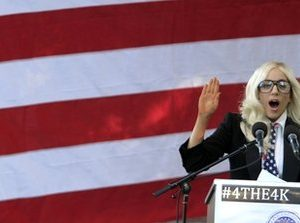 Lady Gaga joins the military gays debate (AP)