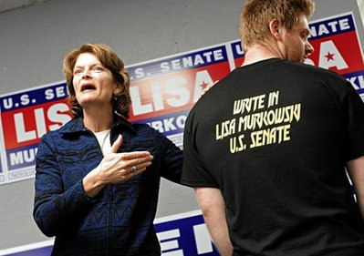 U.S. Senator and third-party candidate Lisa Murkowski: The fly in the ointment? (AP)