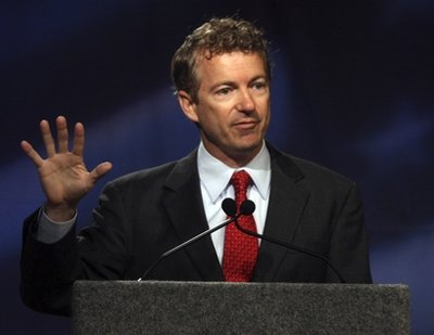 Kentucky Republican U.S. Senate candidate Rand Paul speaks during a debate with Democrat Jack Conway at Northern Kentucky University, Monday, Oct. 11, 2010, in Highland Heights, Ky. (AP Photo/David Kohl)