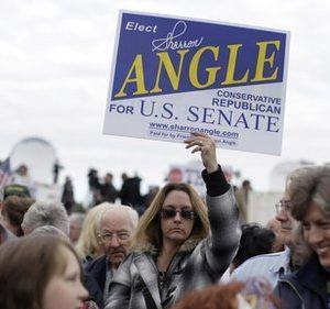 Sharron Angle: The mouth that roared (AP Photo/Julie Jacobson)
