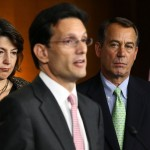 Face of the future majority in the House? Eric Cantor (center) and John Boehner (right)
