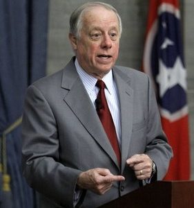 "In this Jan. 13, 2010, file photo Democratic Tennessee Gov. Phil Bredesen speaks in Nashville, Tenn. The new health care law wasn't supposed to undercut employer plans that have provided most people in the U.S. with coverage for generations. But said Bredesen,  ""The economics of dropping existing coverage is about to become very attractive to many employers, both public and private."" (AP Photo/Mark Humphrey, File)"