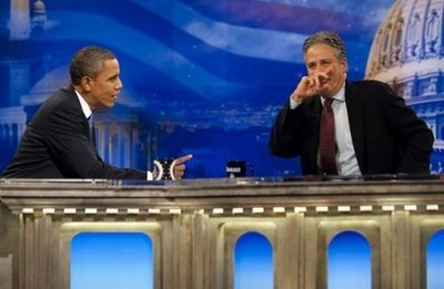 Obama finds Jon Stewart show is nothing to laugh about