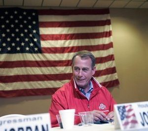 Sen. John Boehner, R-Ohio, takes a seat before speaking at a Republican fundraiser, Friday, Oct. 29, 2010, at the University of Northwestern Ohio's Event Center, in Lima, Ohio. Boehner is seeking re-election against Democratic challenger Justin Coussoule. (AP Photo/J.D. Pooley)