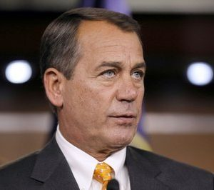 House speaker-in-waiting Rep. John Boehner, R-Ohio, talks to the media, after the elections, on Capitol Hill in Washington, Wednesday, Nov. 3, 2010. (AP Photo/Alex Brandon)