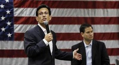 Cantor: Obama will be responsible for government shutdown