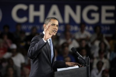 In this Oct. 13, 2008 file photo, then-Democratic presidential candidate, Sen. Barack Obama, D-Ill., campaigns at the Seagate Convention Centre in Toledo, Ohio. All that campaign money this election and last. Well, it was just prologue. The next election will be an explosion of political cash that political strategists and campaign experts say will eclipse the $5.3 billion spent in the 2008 and the $4 billion anticipated tab this year, further eroding attempts to control money in politics.  (AP Photo/Jae C. Hong, File)