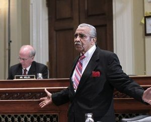 Rep. Charles Rangel, D-NY, appears on Capitol Hill in Washington, Monday, Nov. 15, 2010, before the House Committee on Standards of Official Conduct, where he faces charges of violating House ethics rules. Rep. Peter Welch, D-Vt., is seated at left. (AP Photo/J. Scott Applewhite)
