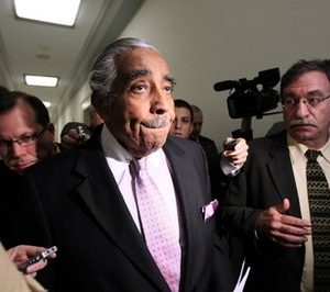 Rep. Charles Rangel, D-N.Y., leaves his office to go to a vote on Capitol Hill in Washington. A rare ethics trial is set to begin on Monday, Nov. 15, 2010, for Rangel. (AP Photo/Alex Brandon)