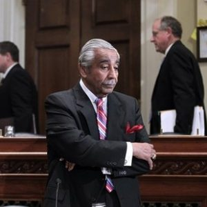 Rep. Charlie Rangel, D-N.Y. is seen on Capitol Hill in Washington, Monday, Nov. 15, 2010, before the start of the House Committee on Standards of Official Conduct hearing, where as he faces 13 separate counts of violating House ethics rules. (AP Photo/J. Scott Applewhite)